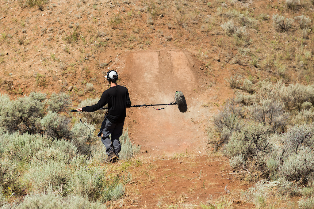 Our drone guy is ALSO the sound guy! Andre looking for rattlesnakes.