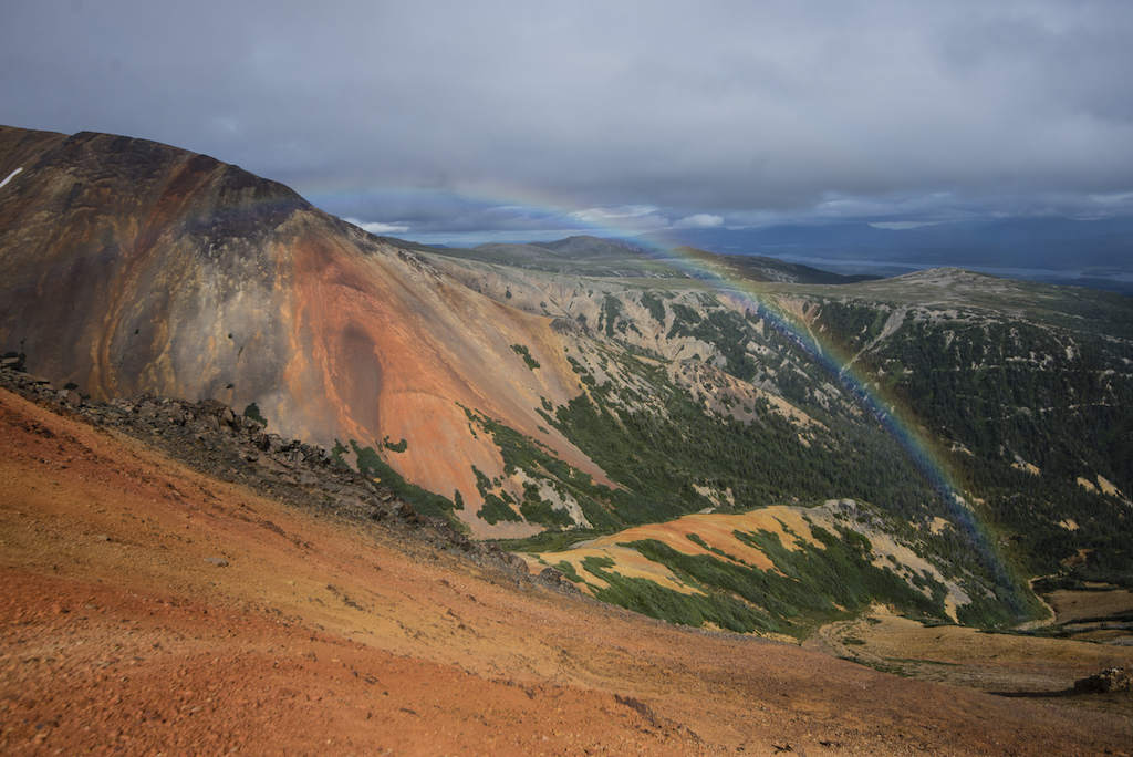 At the end of the rainbow...gold slopes. John Wellburn photo
