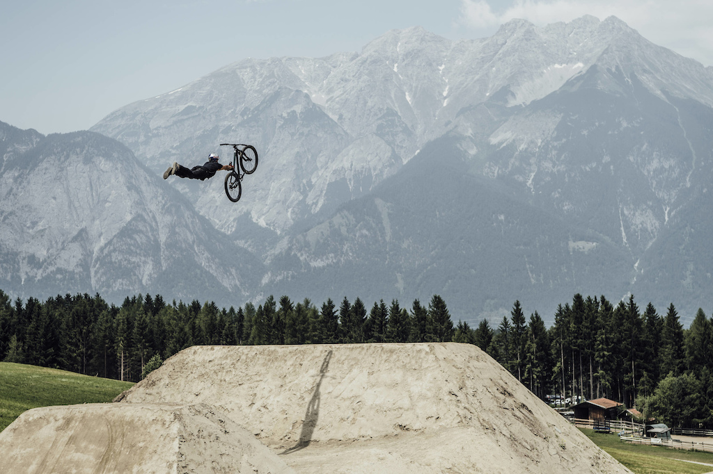 Szymon Godziek performs at Crankworx Slopestyle Innsbruck, Austria on June 24th, 2017 // Bartek Wolinski/Red Bull Content Pool // P-20170624-01012 // Usage for editorial use only // Please go to www.redbullcontentpool.com for further information. //