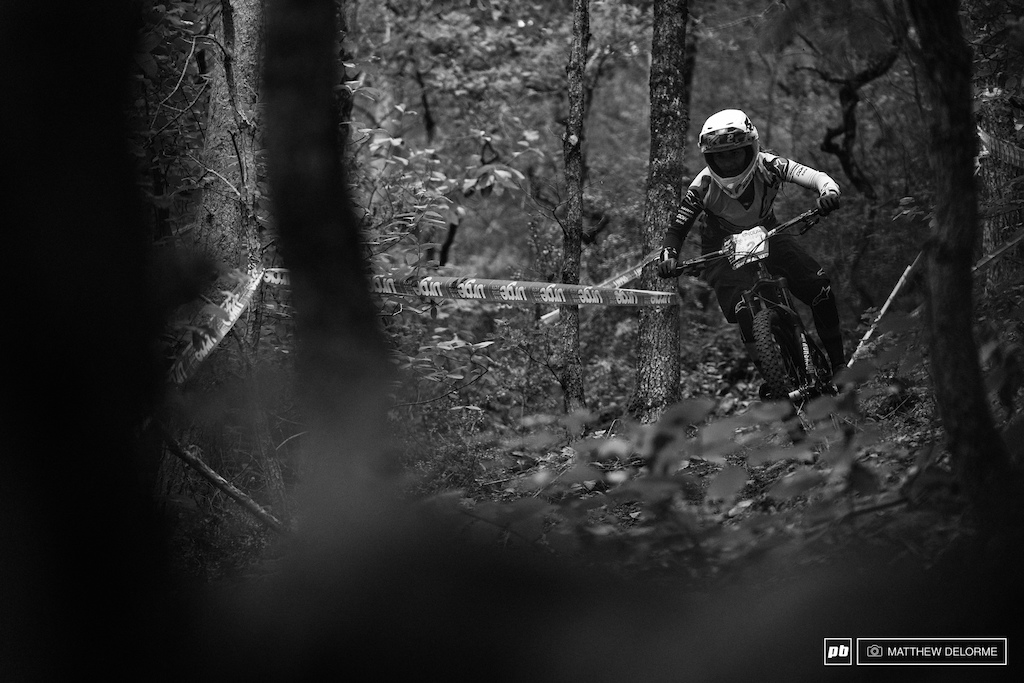 Isabeau on her way to third place on home soil on day one. She came out swinging with a stage one win.