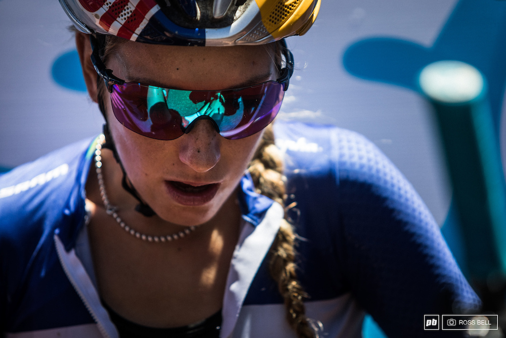 Pauline Ferrand Prevot gave it her all and showed a glimpse of a return to her pace with a battling 15th place.
