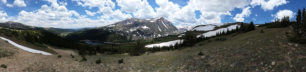 Messing with my phone's panoramic view. It was freaking amazing up on this pass on the Continental Divide!!
