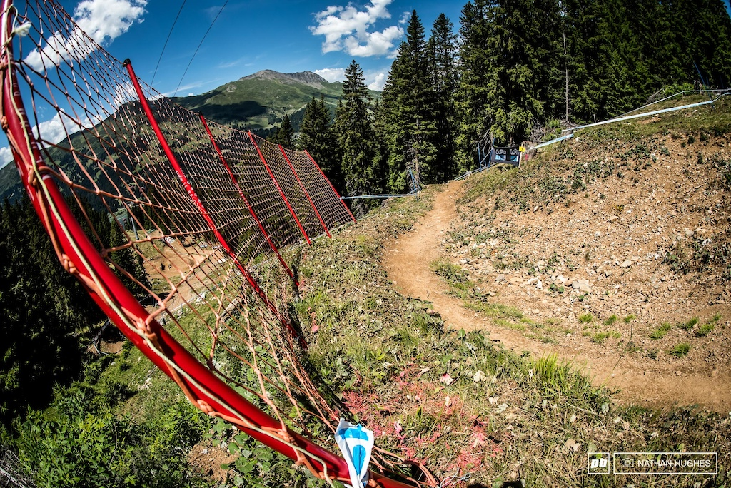 Turns and netting, always a mainstay theme here in Lenzerheide.
