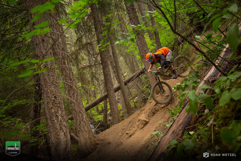 William Cadham races Stage 5 at Panorama Resort on Day 2 of the Trans B.C. Enduro.
