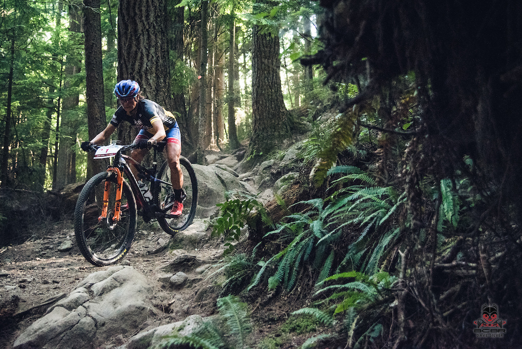 Katerina Nash, focused and fierce in the forest.