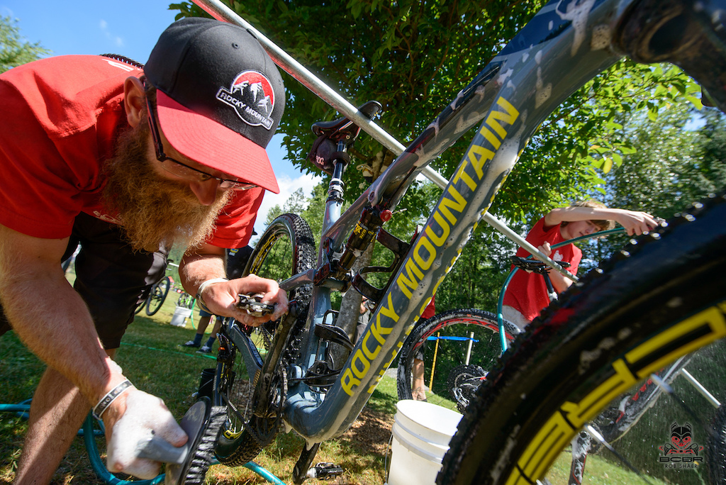 Wash that bike before heading back out into the trails.