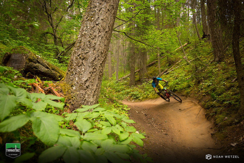 Stage 4 on Day 3 of the Trans BC Enduro in Golden B.C.
