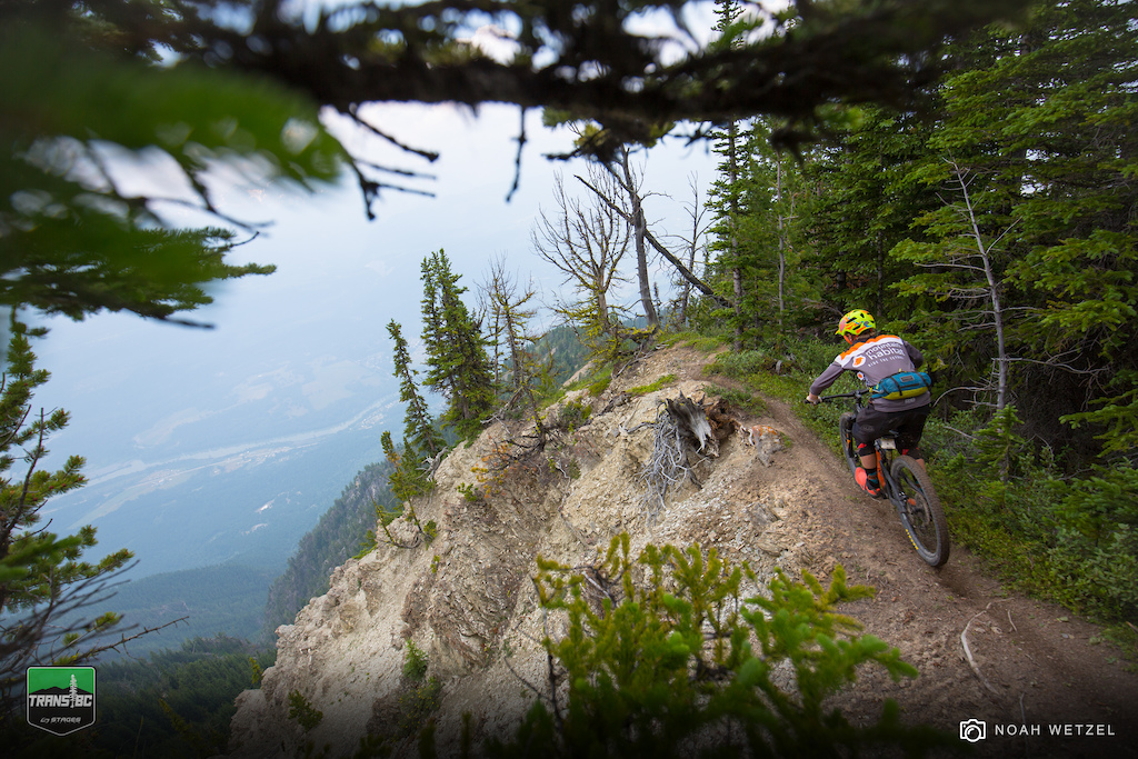 Transition to Stage 1 on Day 3 of the Trans BC Enduro in Golden B.C.