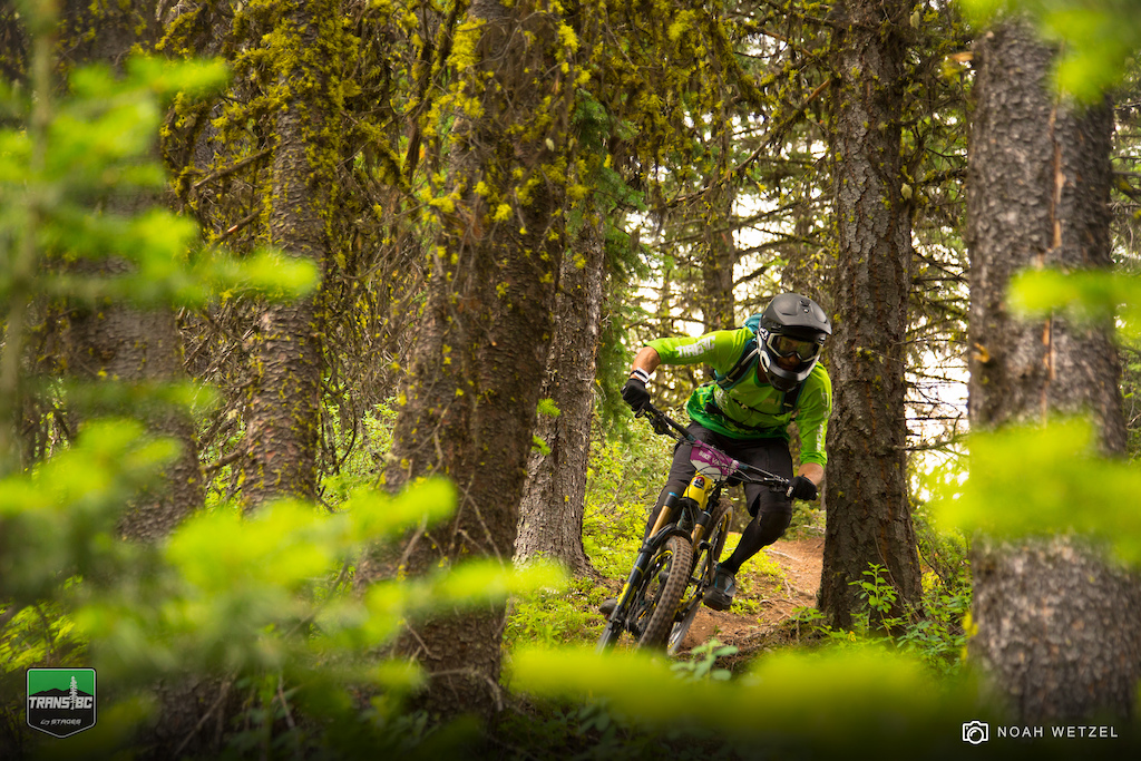 Stage 1 on Day 3 of the Trans BC Enduro in Golden B.C.
