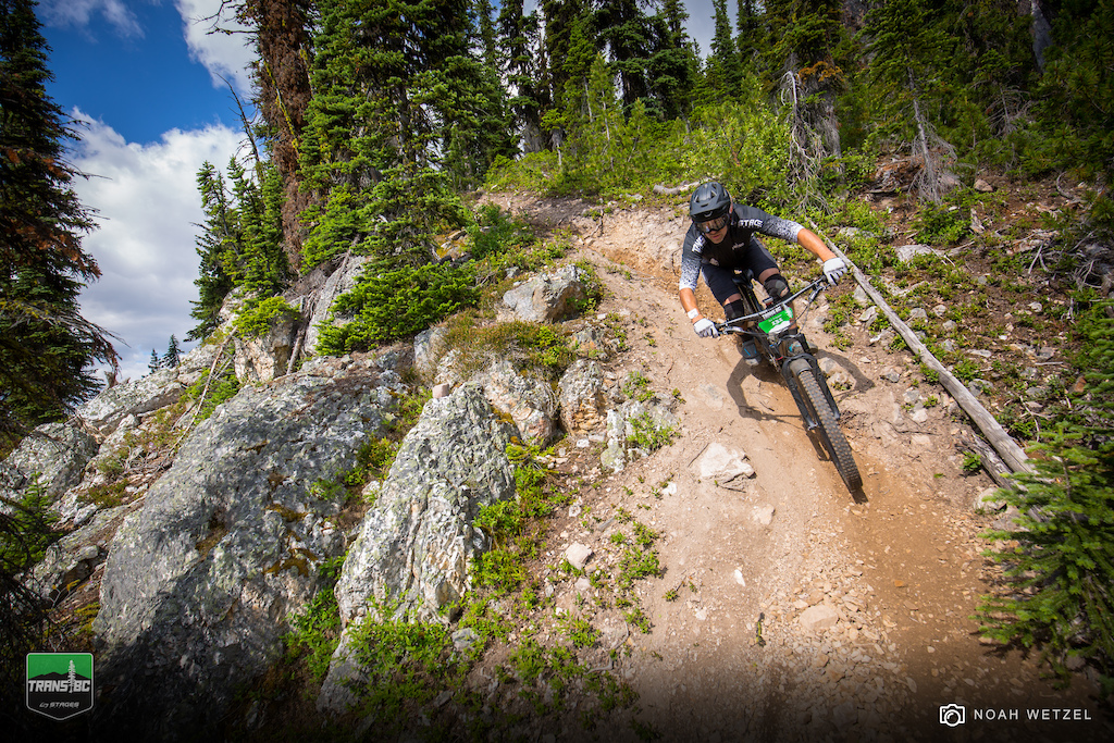 Stage 1 on Day 4 of the Trans BC Enduro in Golden B.C.