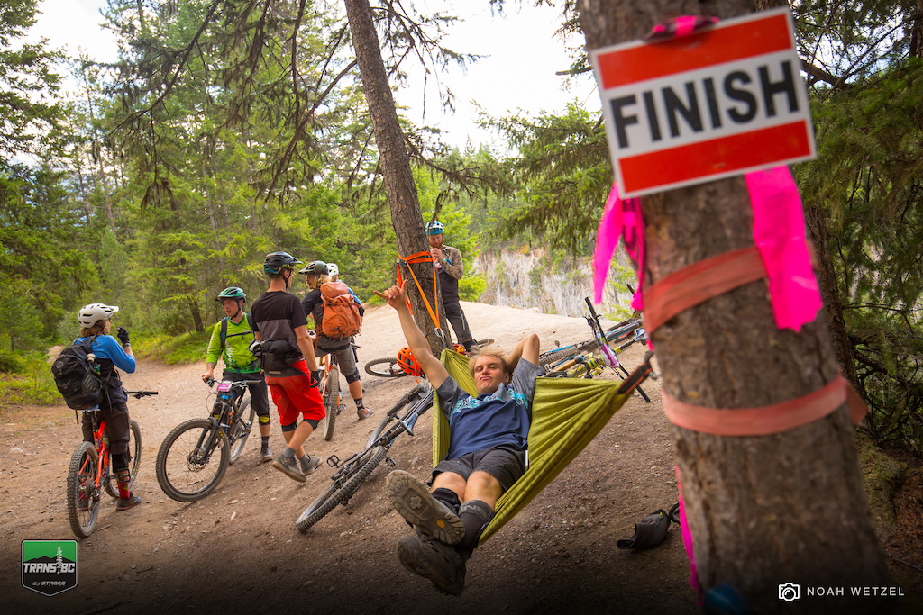 Let s take things down a notch. Stage 3 finish on Day 4 of the Trans BC Enduro in Golden B.C.