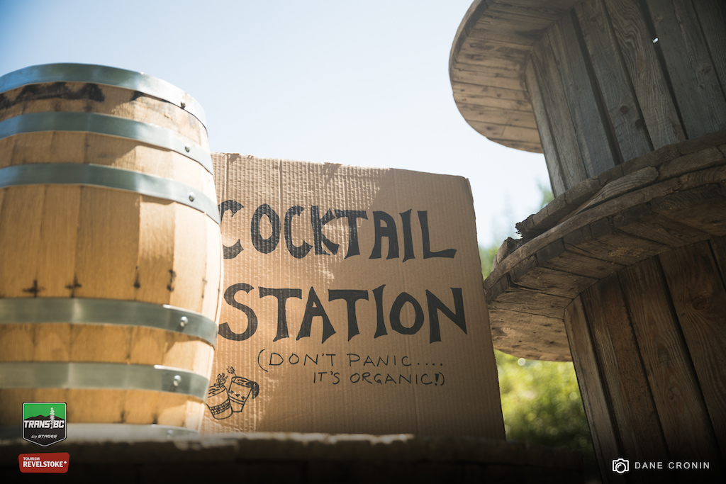 Monashee Distilling supplied the cocktail station before the start of the last stage