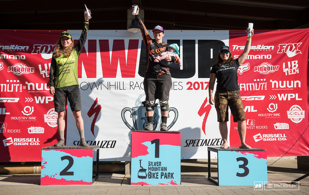 Pro Women Podium: Jaime Rees, Alicia Leggett, and Kerstin Holster.