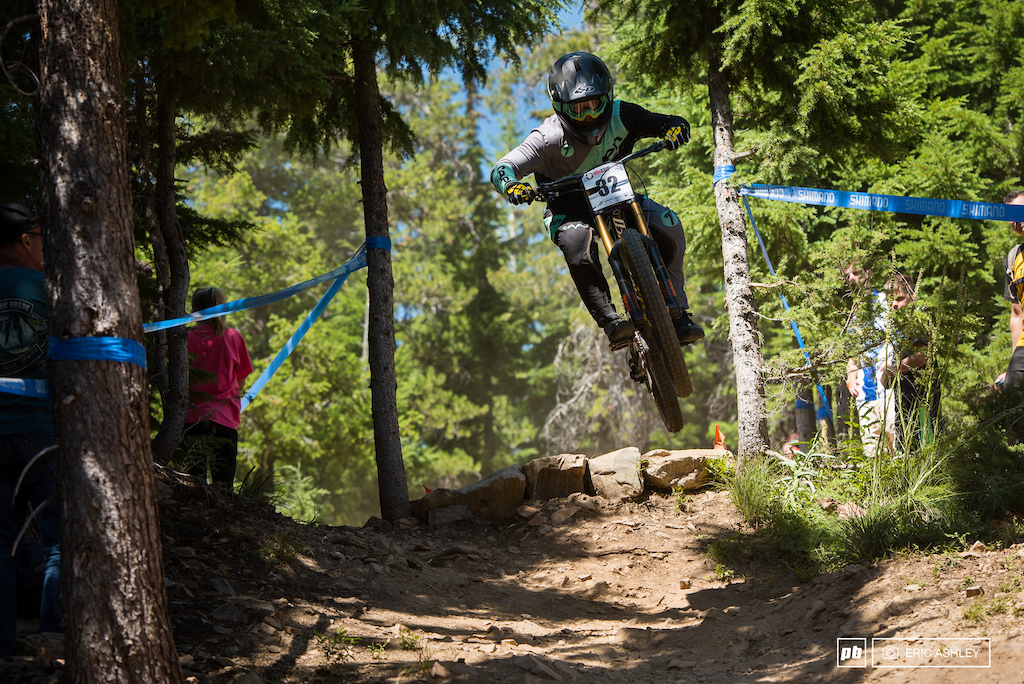 I knew that fast was smooth so I basically just went smooth down the mountain and it worked out Carson Eiswald breaks down his strategy for a fast dusty and loose course.
