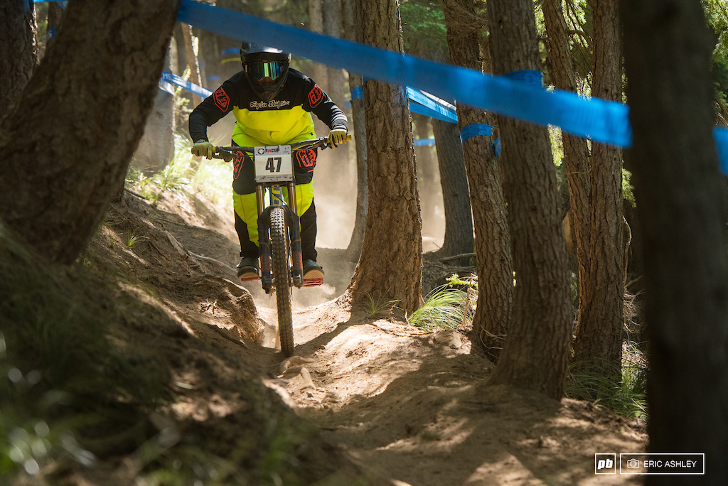 Kerstin Holster lost a little time during her race run to land in third Pro Women .