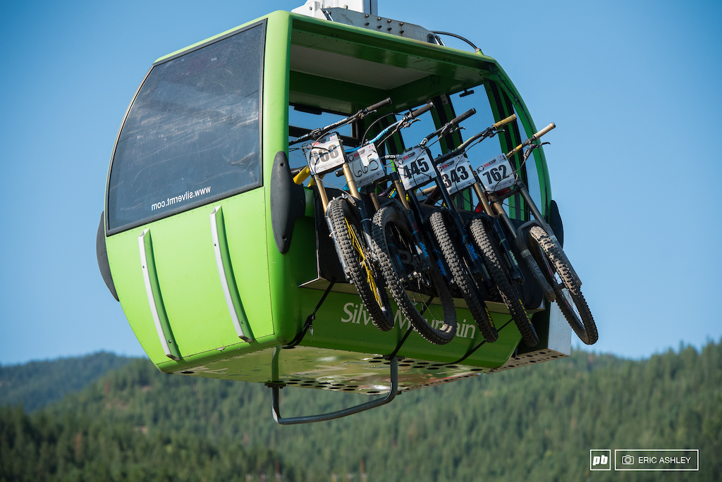 Tailgate pads and gondolas makes for an efficient up lift from the village.