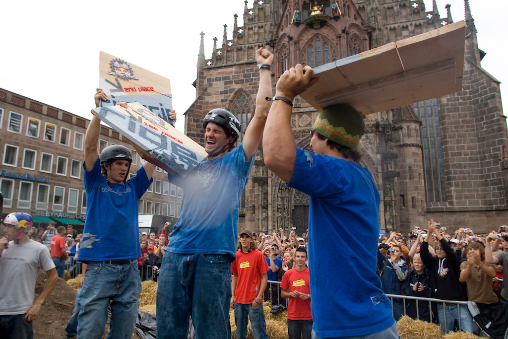 Podium at Red Bull District Ride 2006