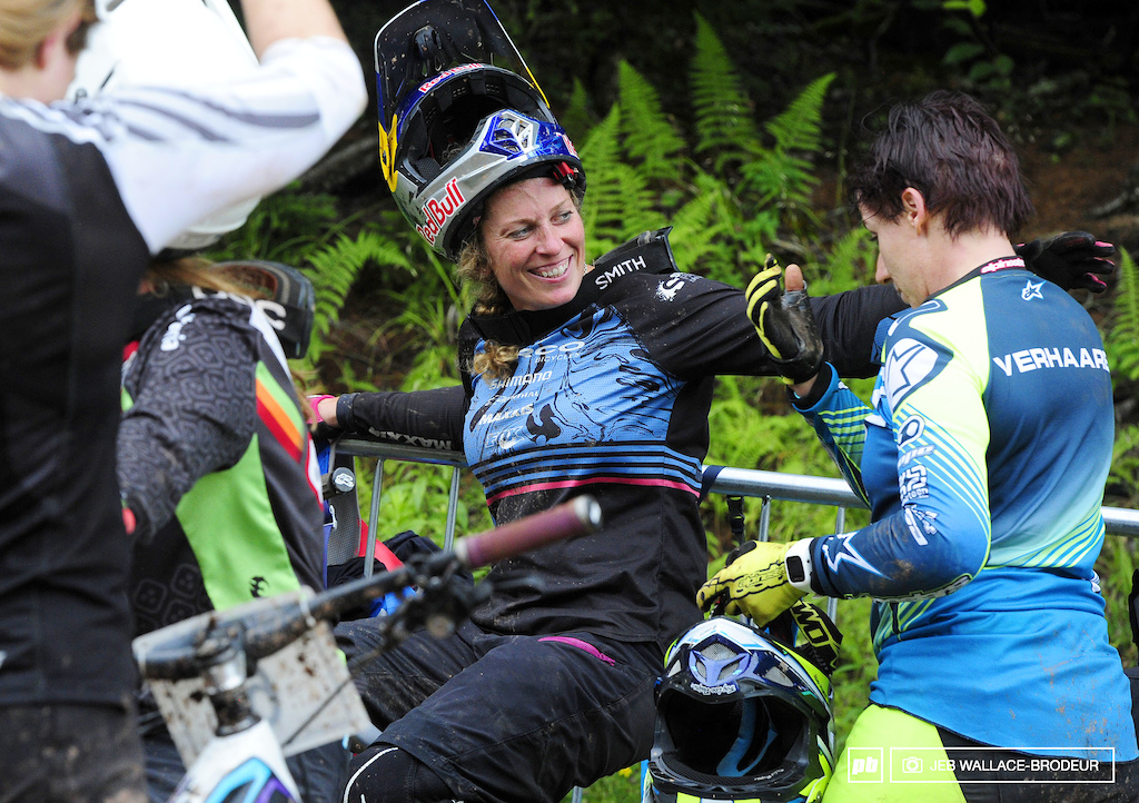 Jill Kintner was all smiles after winning the dual slalom championship.