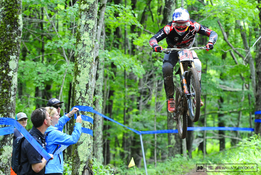 Aaron Gwin successfully defended his national title taking home the gold with a nearly 3-second victory over Luca Shaw.