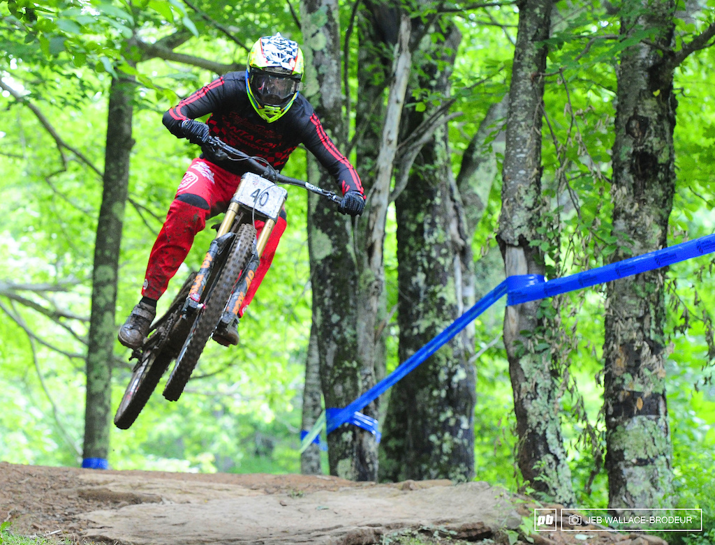 After winning the seeding run Luca Shaw had to settle for the silver medal after being edged out by reigning champion Aaron Gwin.