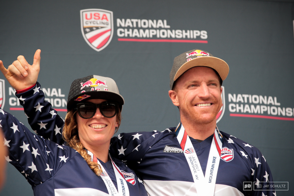 Jill Kintner Aaron Gwin 2017 DH National Champions