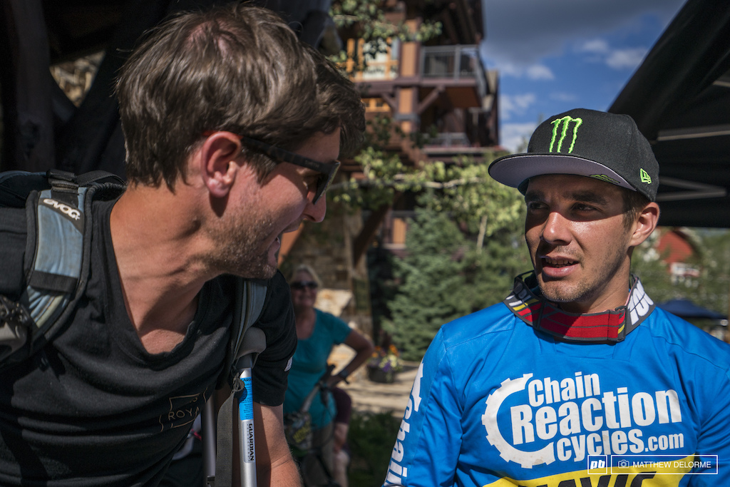 Chris Ball talks to Sam Hill about his second win and taking the overall post race.