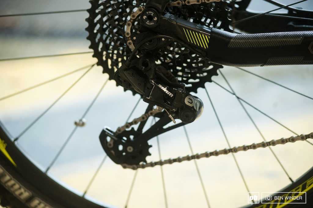 SRAM s eMTB specific EX1 drivetrain is currently the only choice for these machines.