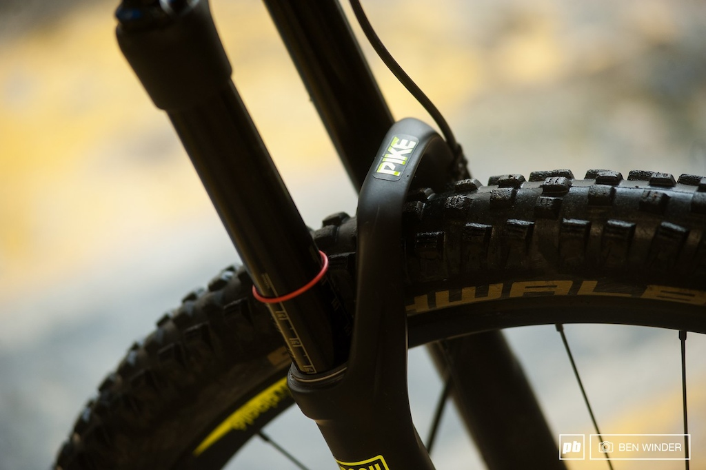The 150mm travel Pike was no match for the fantastic rear suspension system.