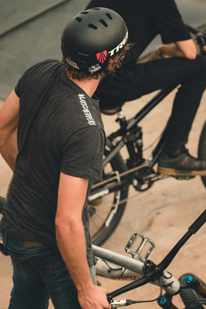 Chris Swiss Raeber flows at Highland Mountain Bike Park