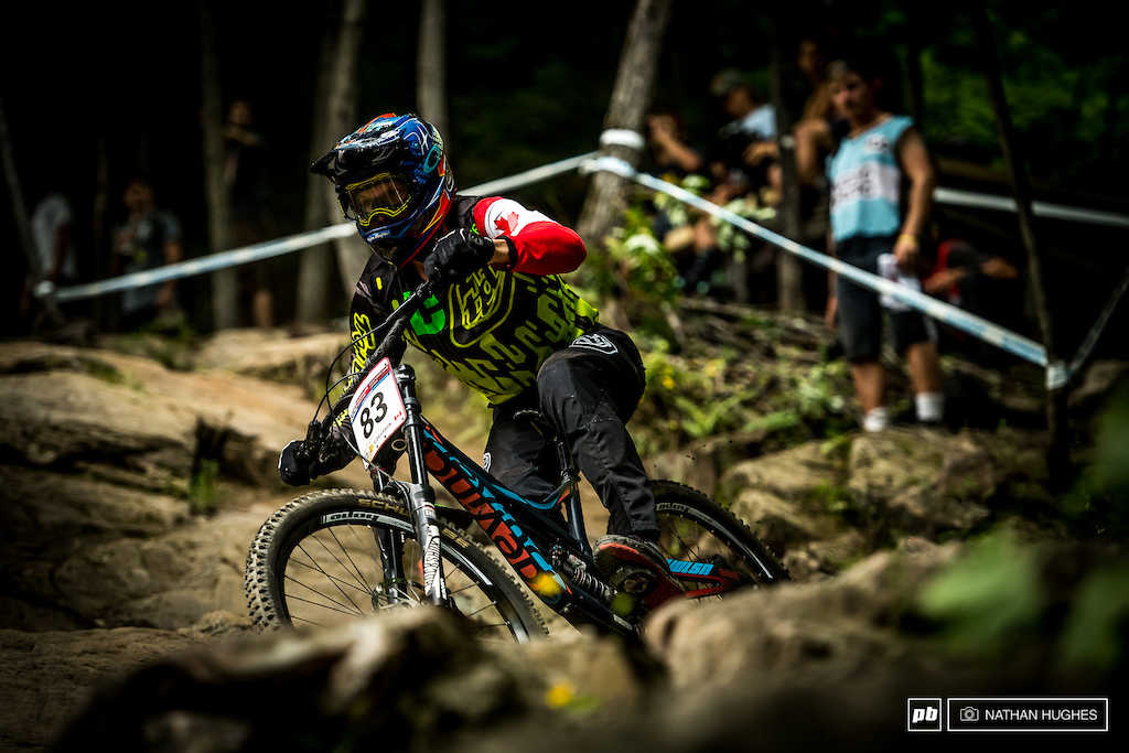 The Canadian DH boss, Kirk McDowall, pulling out a solid 25th here on home soil... or should we say home 'rock'.