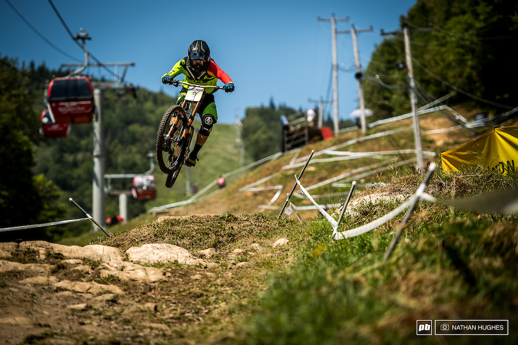 Max Hartenstern piloting the Cube 29er to a safe and sound 7th, but will be looking for much more on the big day.