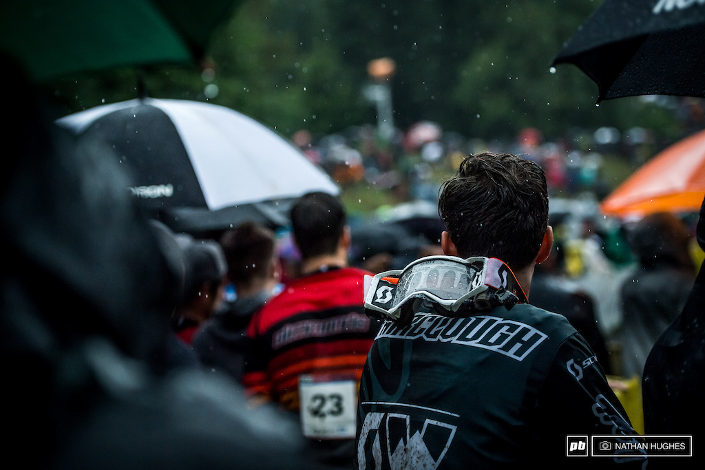 Racing in the rain is all well and good if you can see. In a storm like this that's a big 'if'.