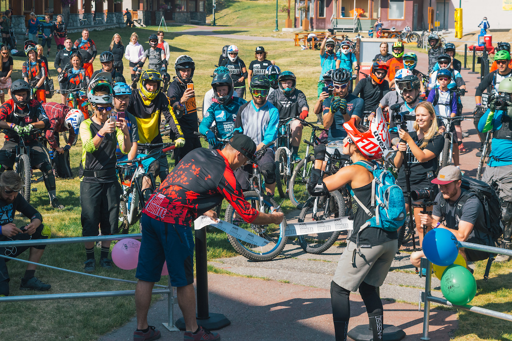 Official ribbon cutting for the Big White Bike Park