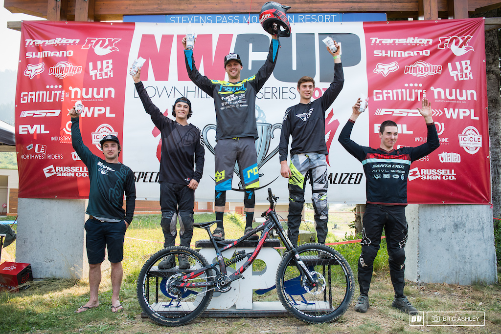 Pro Men Podium: Weston Potter, Kasper Dean, Jason Eiswald, Luke Strobel, and Nate Furbee.