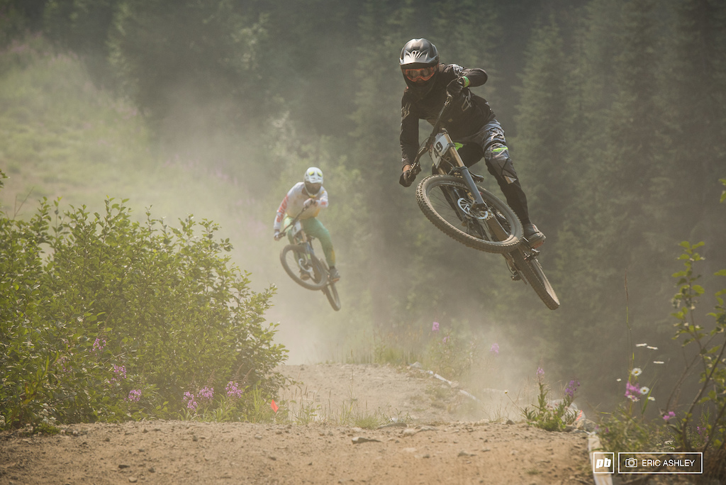 Well accustomed to dusty conditions and fast lines racers headed down P.B.R. for a finale.