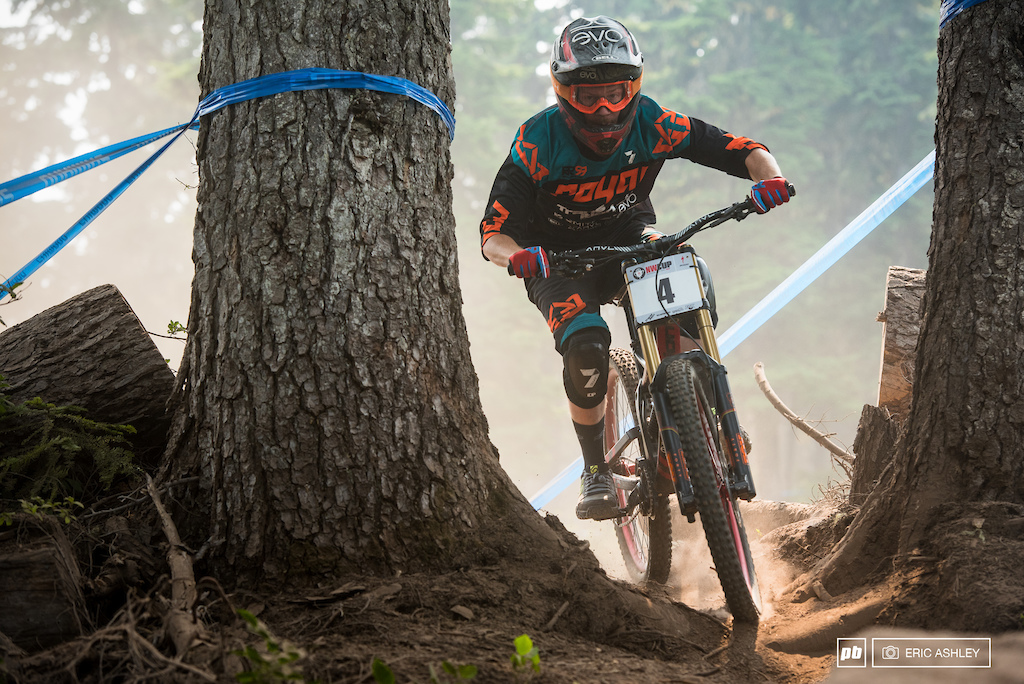 Jake Grob was bested by the the course after a fall before seedings took him out for the weekend Pro Men .