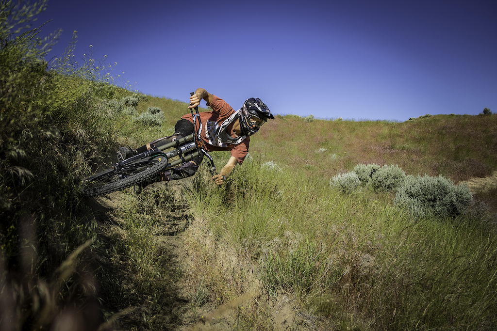 Bar drag in the bushes on one of the trails Henry has built in the Tri-Cities area.