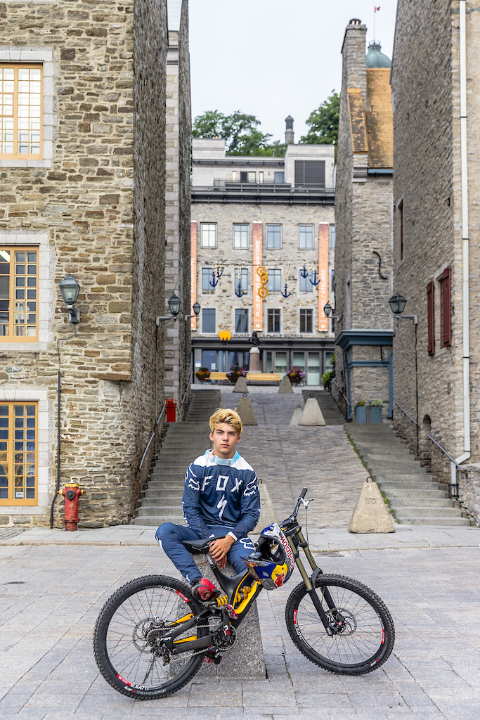 Finn Isles poses for a portrait during the making of Red Bull Purest Line in Quebec City Canada on July 21 2017.