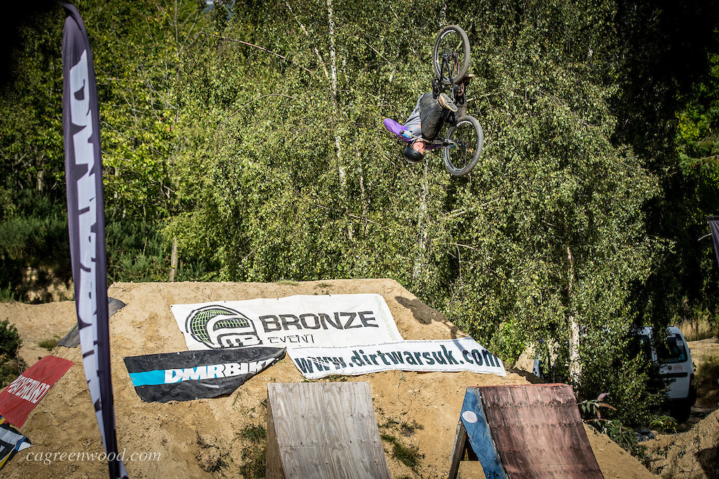 After laying down a solid run of technical combos and ending on a huge front flip, Harry Campbell pushed his score higher in his last two by risking it with his massive front flip on the second jump and being rewarded 3rd place, his first podium in the pro category