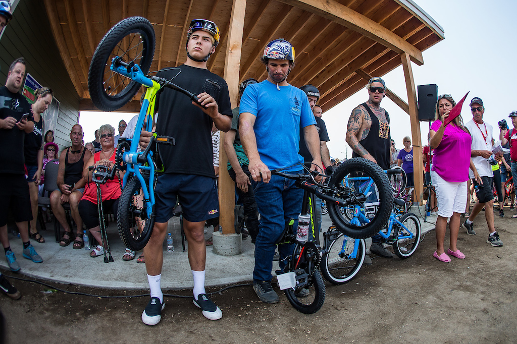 Pinkbike Share the Ride at the Steve Smith Bike Park opening ceremony.