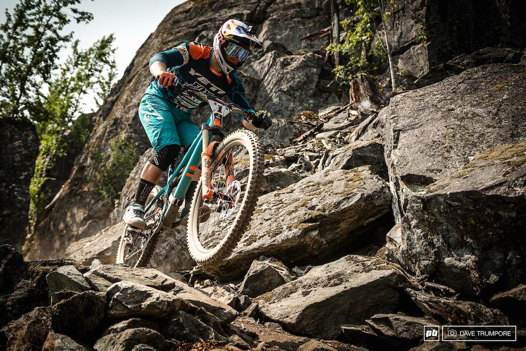 Richie Rude instilling fear in the rocks below.