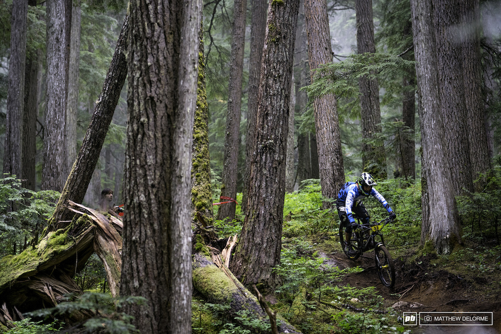 Sam Hill took stage one by 17 seconds. unfortunately, the day wouldn't be his.