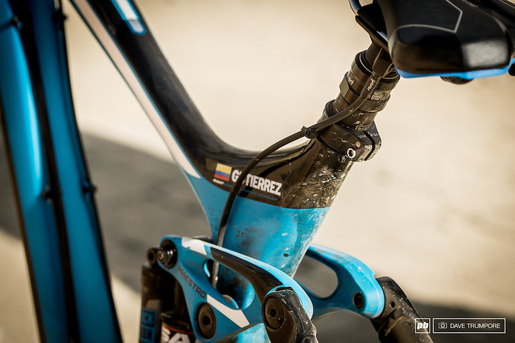 Dropper posts on DH bikes are all the rage on Garbanzo.