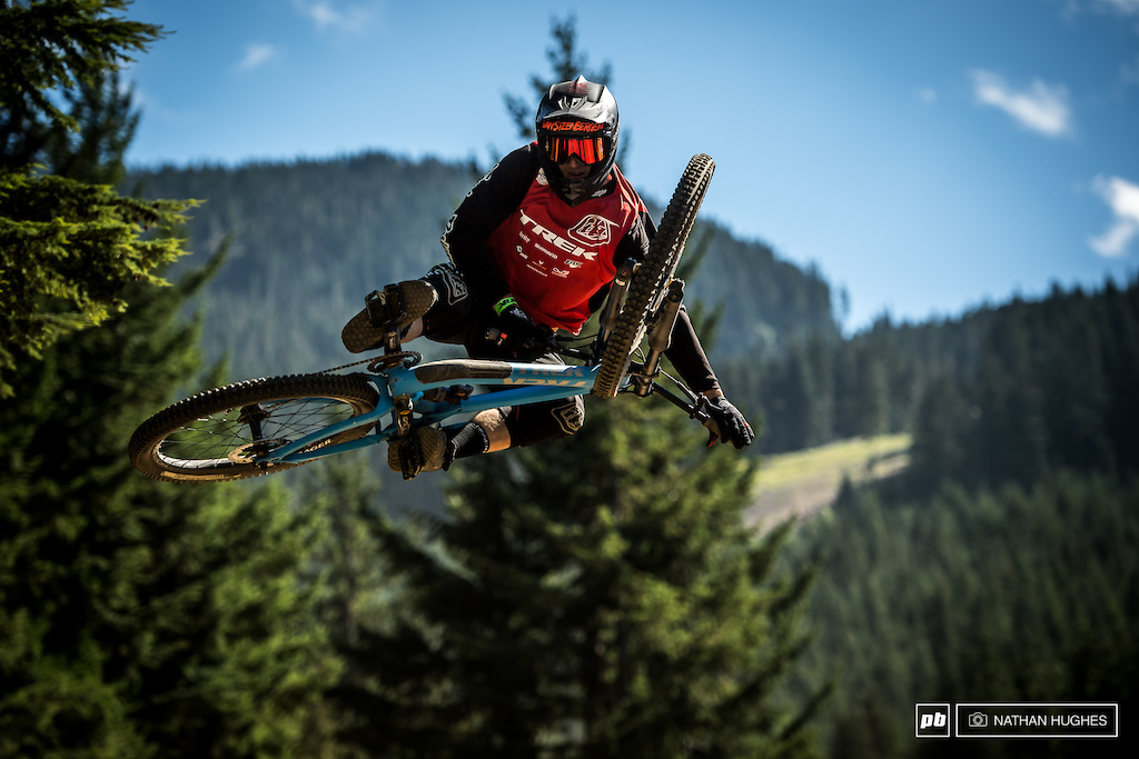 Always a struggle for Tom Van Steenbergen not to go inverted when airborn...