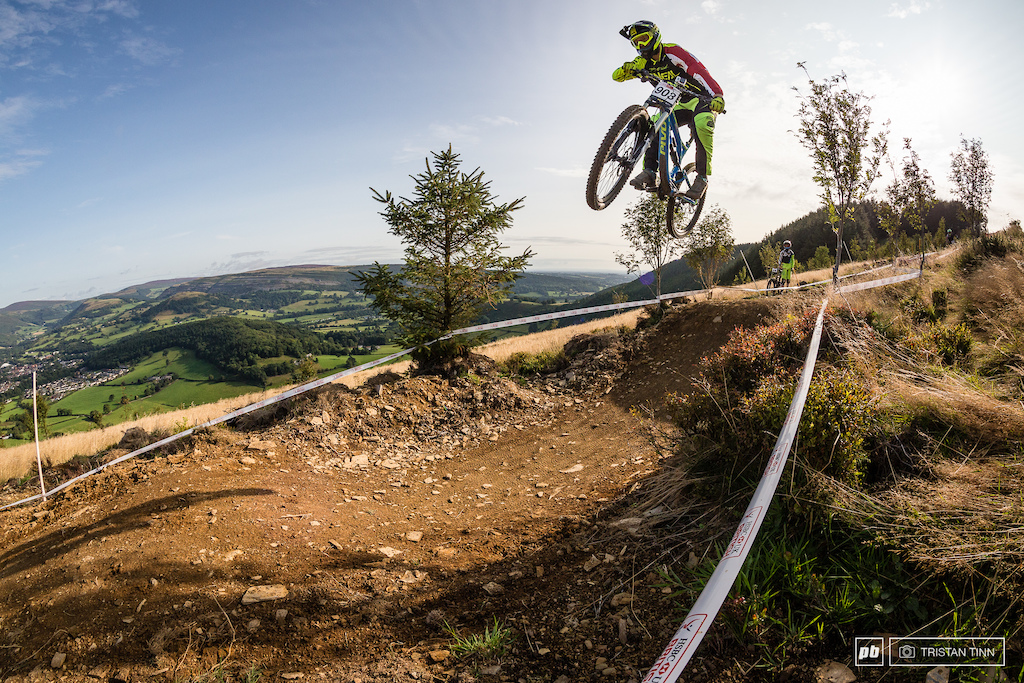 Conor Smith makes light work of the top double in the early morning sun