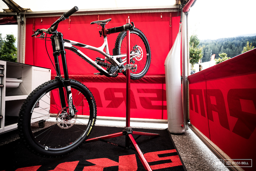 SRAM's race support are looking after a certain French World Champ this weekend... Cecile Ravanel is making her WC DH debut!
