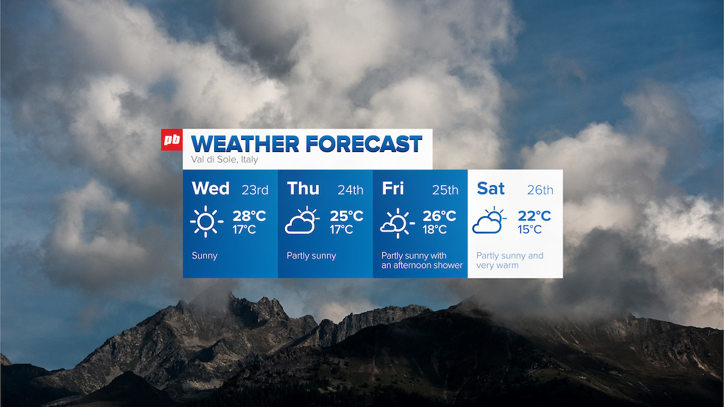 Essential Guide to Val di Sole World Cup DH 2017 - Weather Forecast