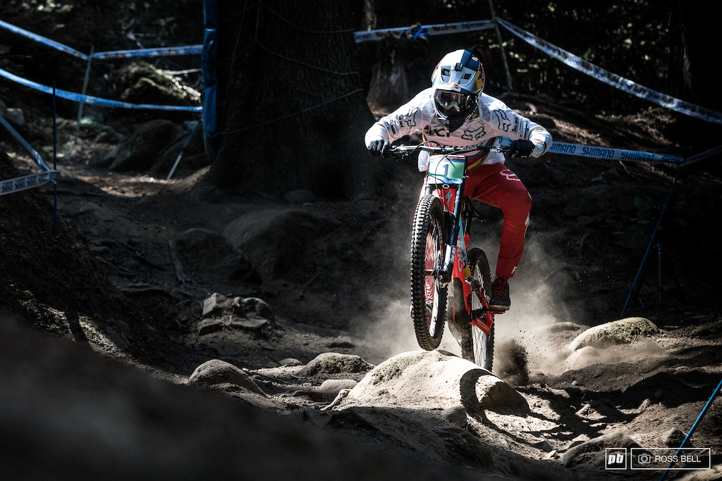 Finn Iles in his final World Cup race as a junior in 2017.