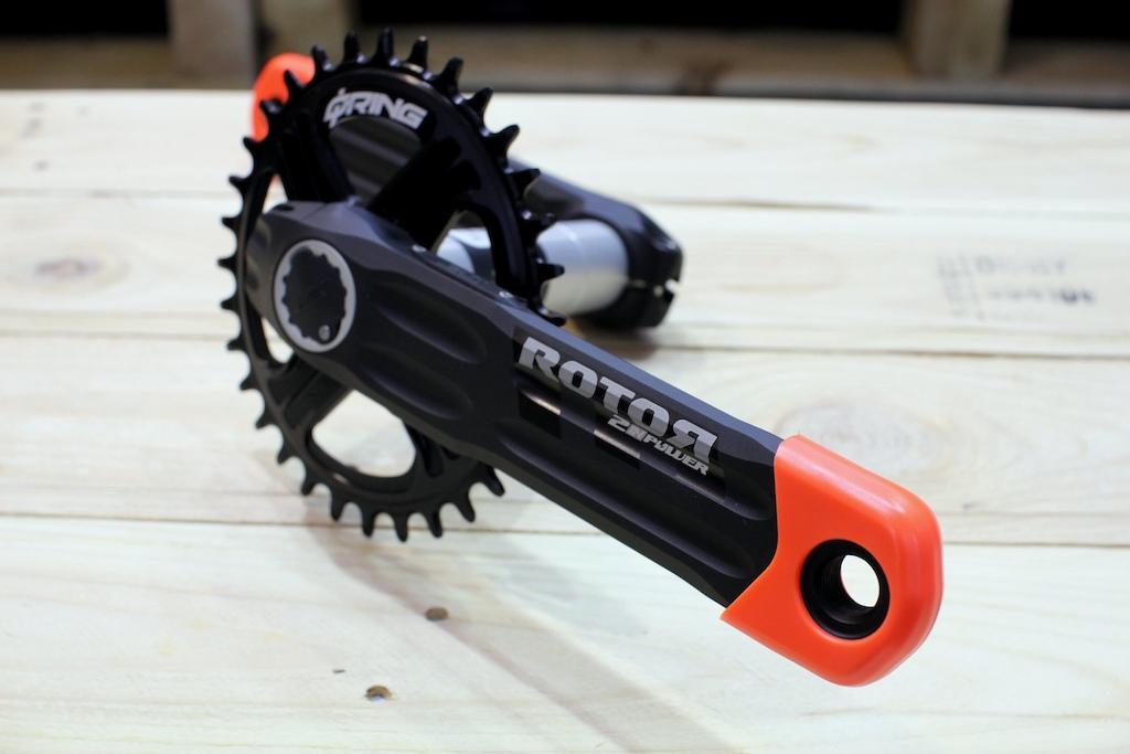 Rotor dual power meter cranks