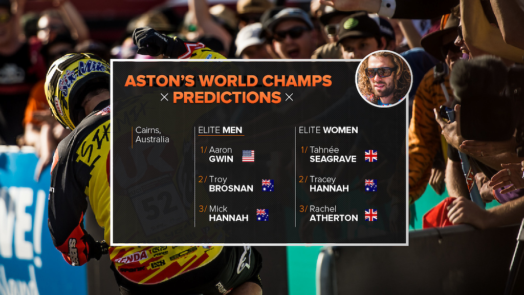 Aston s Predictions 2017 Cairns World Championships